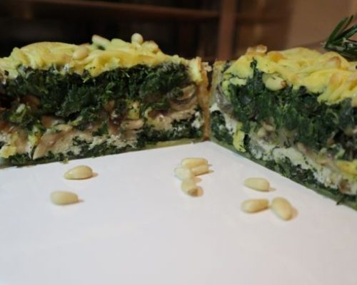 Vegan Geheitkaas Quiche