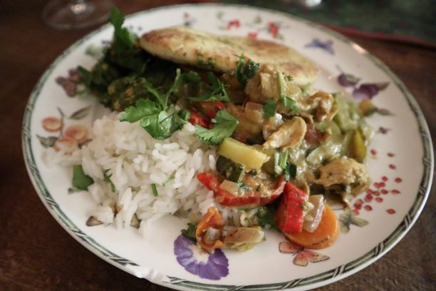 vegan, green comfort food, vegan thaise groene curry, vegan curry
