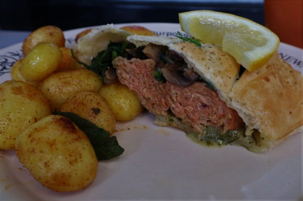 vegan, green comfort food, vegan salmon wellington