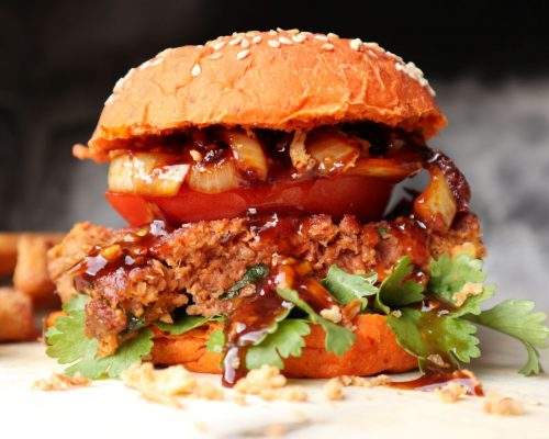 Vegan Meatloaf Burger