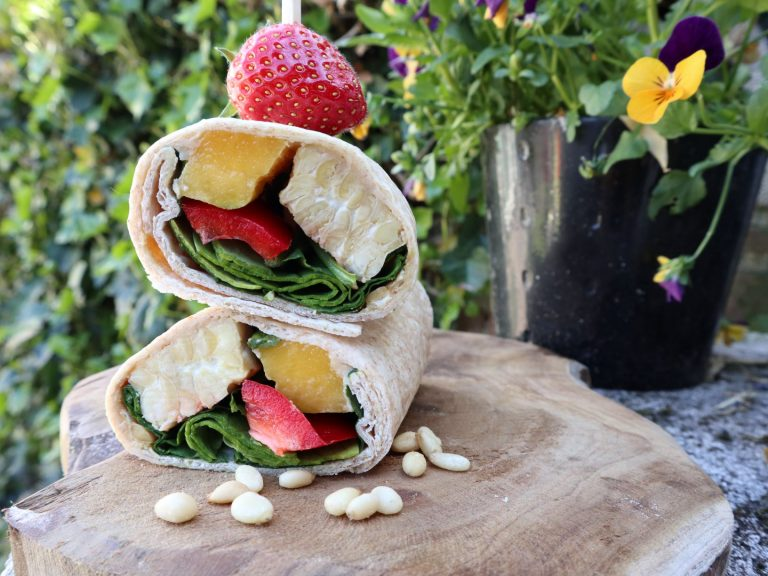 vegan, green comfort food, vegan wrap, vegan lunch idee, vegan lunch recepten