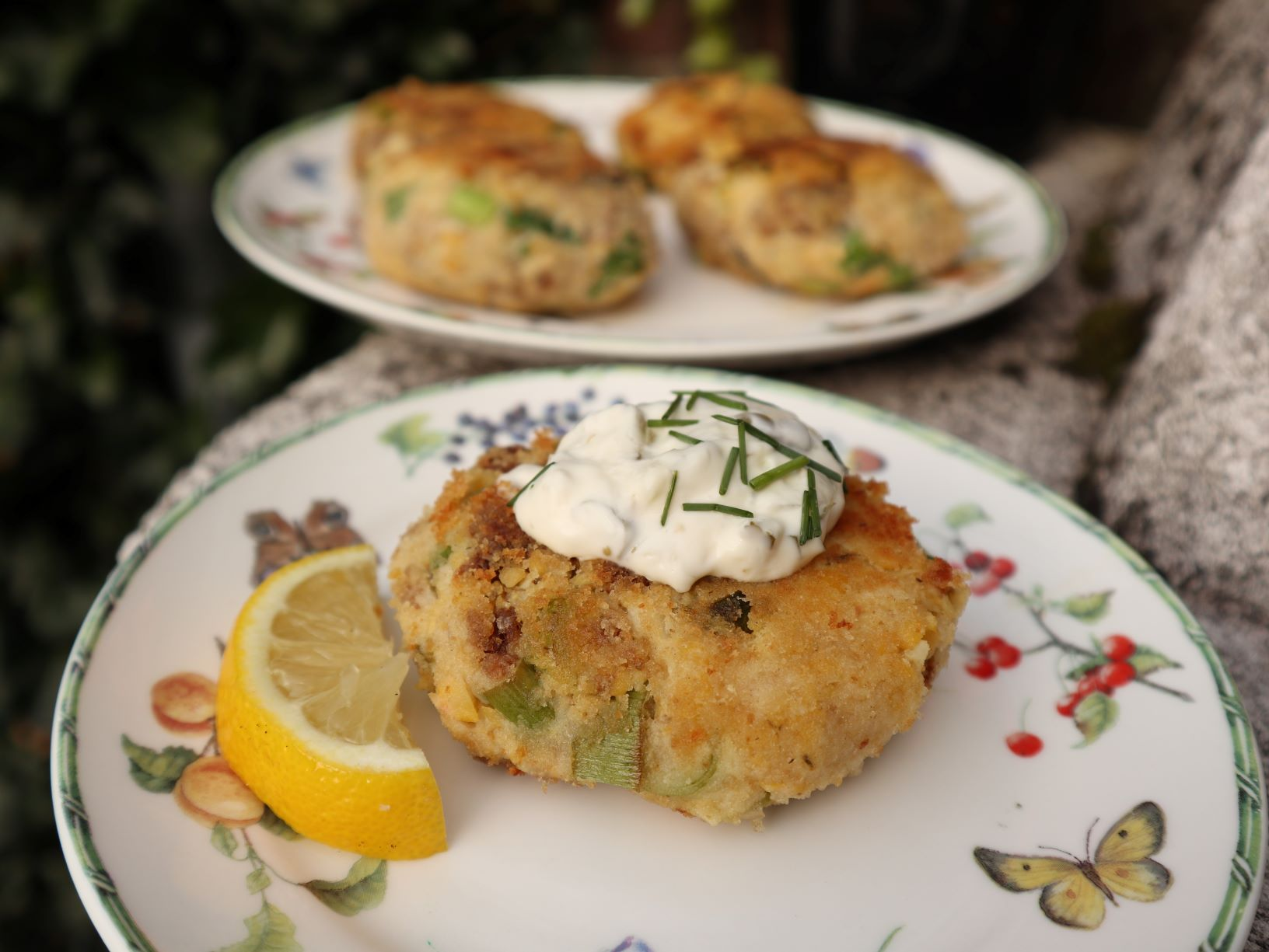 vegan, green comfort food, vegan crabcakes, vegan crab, linda meijers, vegan british food
