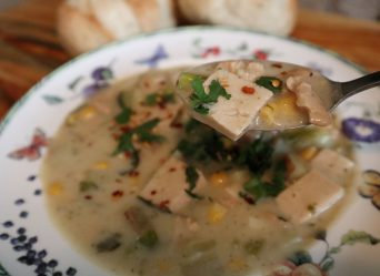 Vegan chowder (Vegan vissoep)